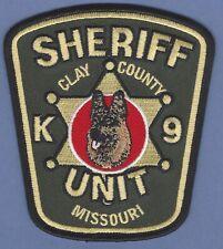 CLAY COUNTY MISSOURI SHERIFF K-9 UNIT POLICE PATCH