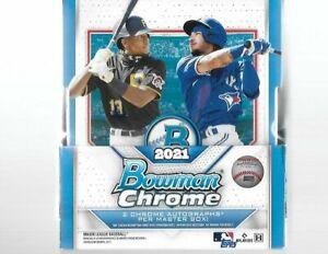 2021 Bowman Chrome Baseball Factory Sealed Hobby Box