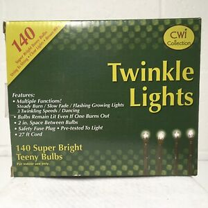 Twinkle Lights CWI collection 140 Silicone Dipped Teeny Bulbs- Brown Cord Indoor