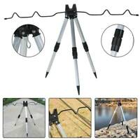 Outdoor Sea Beach Telescopic Fishing Rod Rests Tripod Stand Holder Adjustable