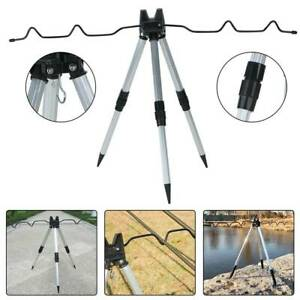 Portable Folding Fishing Rods Tripod Stand Rest Tackle for Outdoor Sea Beach