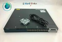 Cisco WS-C3560X-24T-L • 24 Port Gigabit  Switch ■1YR WARRANTY • SAMEDAYSHIPPING■