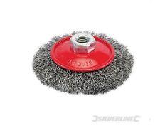Cepillo Metal Biselado Hilos Acero S Para Pulidora Tamaño 100 115 MM Óxido