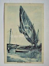 RICCIONE barca vela sailing boat gita Rimini vecchia cartolina