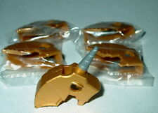 ANIMAL ACCESSORY Lego Lot of 5 Horse Battle Helmets Metallic Gold NEW 7188-7946
