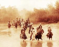 CROW INDIAN  WARRIORS VINTAGE PHOTO NATIVE AMERICAN OLD WEST 1899  #21010