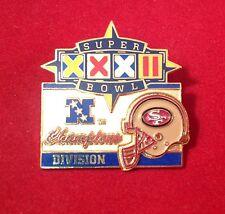 San Francisco 49er's  Super Bowl XXXII NFC Division Champions Pin.
