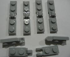 12  LEGO® Scharniere grau flach mit Rasterfunktion (6 Paar) Neu