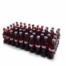 Miniature 50 Bottles Coke Soda Collectible Dollhouse Tiny Food Kitchen