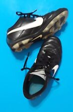 Pre-Owned Nike Rubber Cleated Shoes Black Blue Youth Size 4