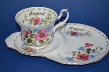 Saucer Flower of the Month Royal Albert Porcelain & China