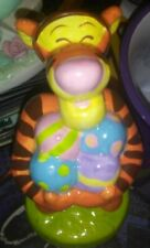 Disney Tigger Holding Easter Eggs Figurine Winnie The Pooh Pre-Owned Figure