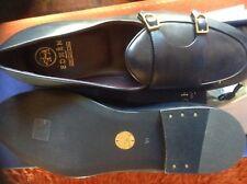 MOCASSINI UOMO BLU fibia e marchio ORO fatti a mano in Italia EDHEN scarpe  44 3374edd0391