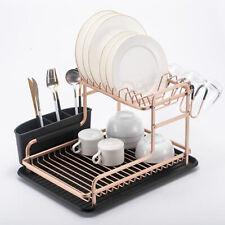 Aluminium Alloy Dish Rack Kitchen Organizer Storage Drainer Drying Plate Shelf