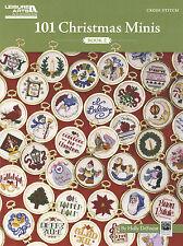 Cross Stitch Pattern Booklet ~ 101 Christmas Minis Book 2 XMAS Ornaments #LA5523