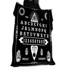 OUIJA BOARD Fleece Blanket / Throw 147cm x 147cm Occult, Black