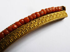 Petit peigne diadème corail Empire 19e siècle comb tiara peineta bijou coral