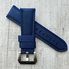 Blue Nylon Canvas leather watch strap Band For 22/24/26mm Panerai PAM Watches