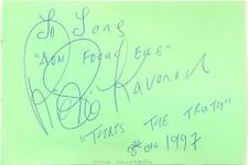 Richie Kavanagh signed autograph book page 1997 Irish entertainer Aon Focal Eile