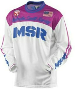 NEW MSR Racing Legend 71 Jersey Pink White XS Adult Motocross ATV MX Motorcycle