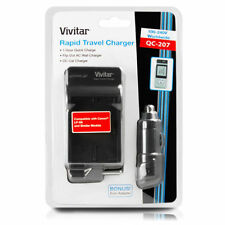 Vivitar AC/DC Rapid Travel Charger for CANON LP-E6 Li-ion Battery