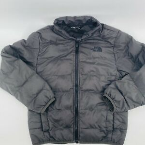 The North Face Boys Youth S/P 7/8 Andes Black Puffer Down Jacket Coat