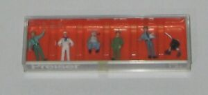 HO  PREISER # 10014 DIFFERENT PROFESIONS HAND PAINTED FIGURES SET