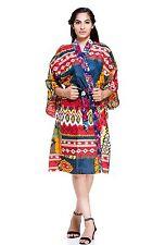Women Dressing Gown Wedding Bride Bridesmaid Designer Ikat Kimono Dressing Robe