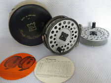 Hardy Viscount 140 Fly fishing reel + Spare Spool, Phamphlet, & Hardy case.