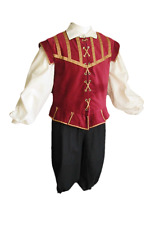 Medieval Renaissance Halloween Costume Colonial Pants Puffy Shirt Pirate Doublet