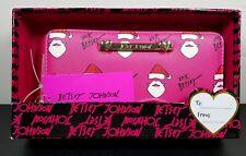 Betsey Johnson Boxed Bow Wallet--Fushia Santa--Brand New