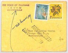 CB268 1974 Jamaïque * Grange Hill * Retour Mandeville non réclamés cachet de la Poste Radio carte