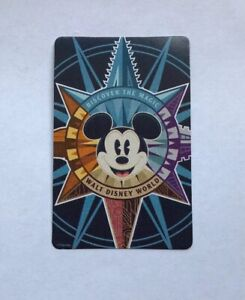Vintage Walt Disney World Playing Swap Card Featuring Mickey Mouse
