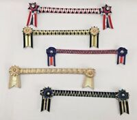 LOT OF 5 Fancy Browband (FULL & Pony)  Lightly Used Equestrian Show Horse