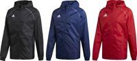 Adidas Mens Rain Jacket Core18 Coat Hood Waterproof Wind Breaker Zip S M L XL