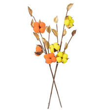 Natural Dried Cotton Flower Branch Bouquet Wedding Party Home Floral Decor DIY