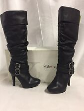 Style & Co EXTREME Women's Fashion Knee-High Boots, Black, Suze 5.5 M