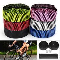 Handlebar Tape Bicycle Road Bike Flexible Rubber Handle Grip Tape Bar Plug Set