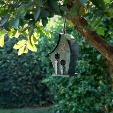 Alpine Corporation Wooden Turquoise Birdhouse Green