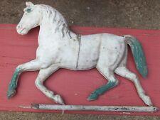"""Antique pressed tin circus horse; great patina; original; 15"""" x 11"""""""