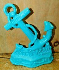 Cast Iron Nautical Anchor Doorstop Garden Statue Home Decor Book End Turquoise