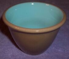 Chateau Buffet  Taylor Smith & Taylor Tall  Custard Baker  Brown & Turquoise