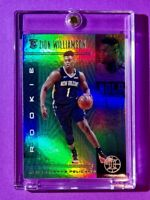 Zion Williamson ROOKIE HOLO GREEN REFRACTOR FINISH PANINI ILLUSIONS RC - Mint!