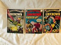 CHALLENGERS OF THE UNKNOWN 11 (GREY TONE COVER) 33 AND 57 HARD TO FIND GREY TONE