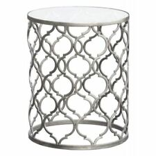Art Deco Style Metal Round Side & End Tables