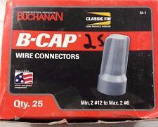 BOX OF 25 BUCHANAN B-CAP B4-1 WIRE CONNECTORS