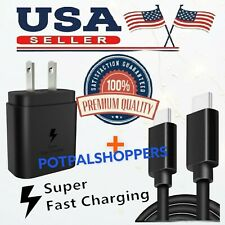 25W USB-C Super Fast Wall Charger Type-C Cable For Samsung Galaxy S20 S21/Ultra