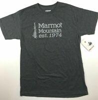 "Marmot Mens Size Large Mountain ""1974"" Charcoal Heather Short Sleeve T Shirt"
