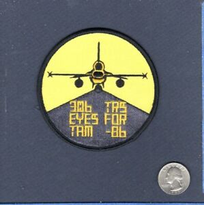 306th TRS FS 1986 USAF F-16 FALCON Squadron Swirl Patch