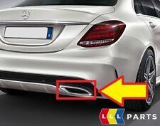 NUOVO Originale Mercedes MB CLASSE C W205 AMG Tubo Di Scarico Coda Chrome Trim Destro O/S
